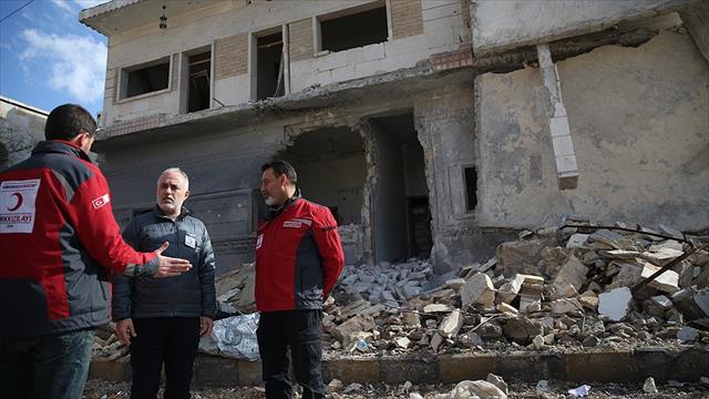 Türk Kızılayı Genel Başkanı Kınık tahliye çalışmaları için Bab'ta