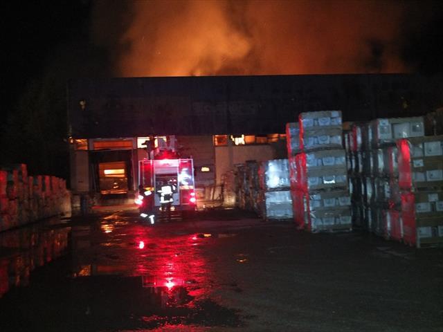 Bilecik'te korkutan depo yangını
