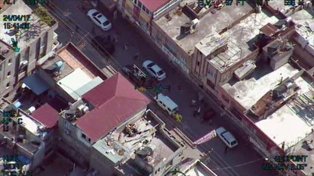 Bin polisle 'torbacı' operasyonu helikopter kamerasında