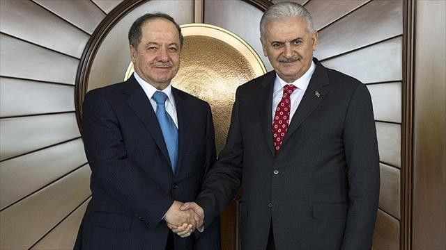 Başbakan Yıldırım, Barzani ile telefonla görüştü