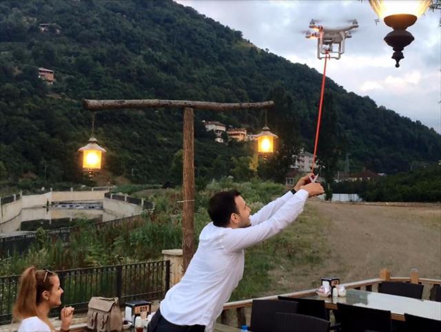 Drone ile gelen mutluluk