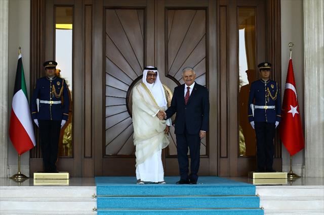 Başbakan Yıldırım Kuveytli mevkidaşını törenle karşıladı