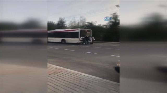 Patenli çocukların tehlikeli yolculuğu kamerada