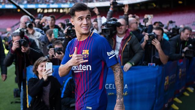 Barcelona Coutinho'yu tanıttı
