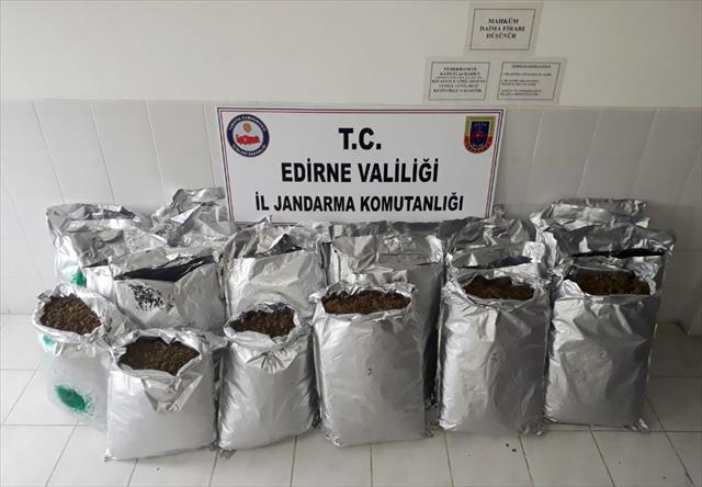 Edirne'de milyonluk uyuşturucu operasyonu