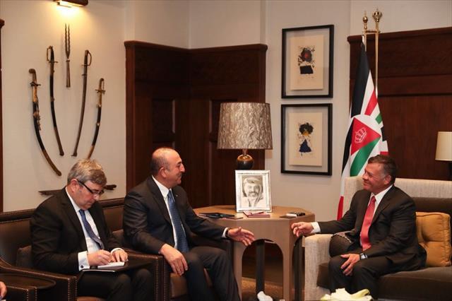 Bakan Çavuşoğlu Kral Abdullah'la görüştü