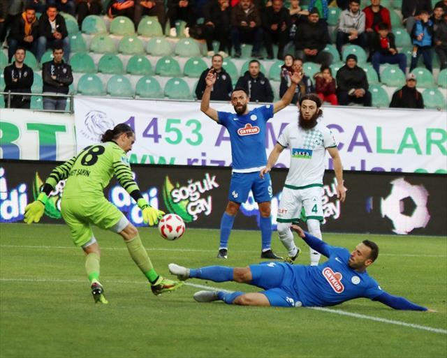 Çaykur Rizespor 3 puanı tek golle aldı
