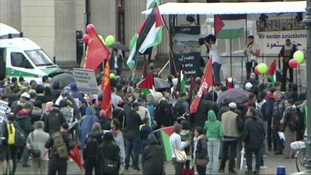 Almanya'da İsrail protestosu…