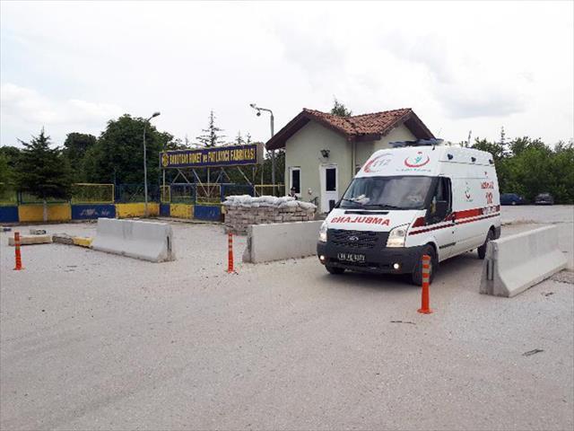 Barutsan Fabrikasında patlama: 1 ölü, 4 yaralı