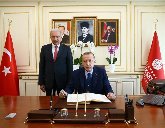 Erdoğan'dan İBB'ye ziyaret…