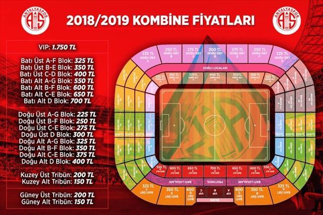 Antalyaspor'da kombine fiyatları açıklandı