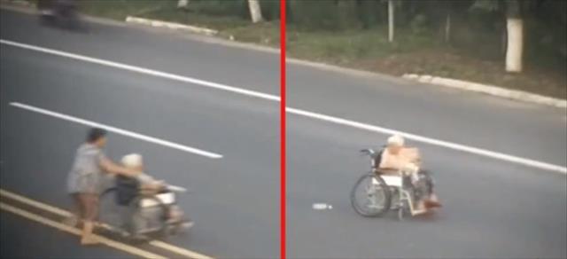 Çin'de akılalmaz kaza kamerada