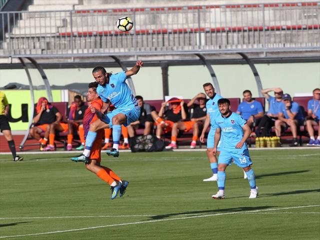Trabzonspor'dan tek gollü prova