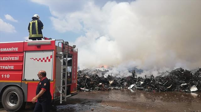 Osmaniye'deki yangın söndü