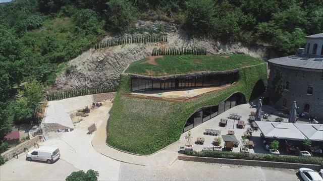 Trabzon'da 450 kişilik 'Hobbit evi' yapıldı