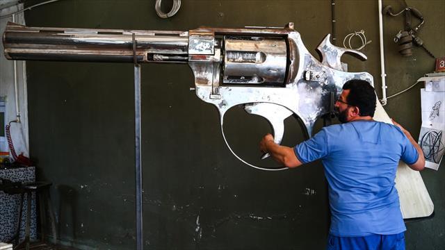 Demir ustası, dev silahına patent almak istiyor