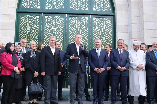 Erdoğan Orgeneral Hulusi Akar Camii'ni açtı…