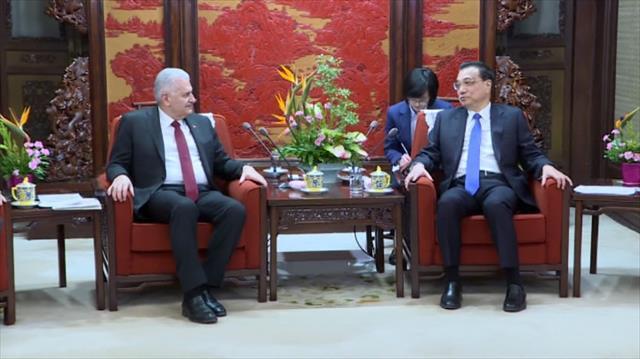 Binali Yıldırım Çin Başbakanı Kıçiang'ı kabul etti