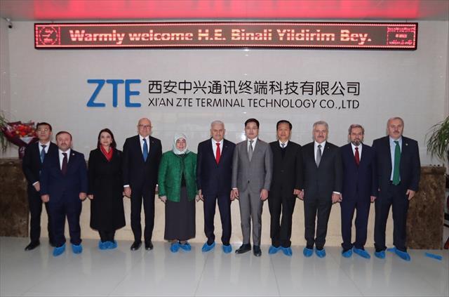 Yıldırım Çin'de teknoloji firmasını ziyaret etti