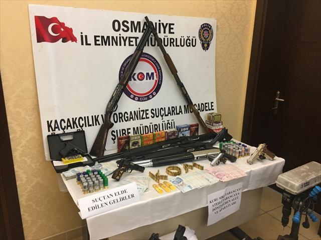Osmaniye'de silah kaçakçılığı operasyonu: 18 gözaltı