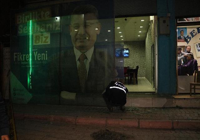 AK Parti seçim bürosuna molotoflu saldırı…