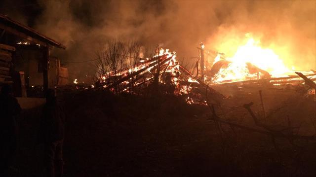 Kastamonu'da korkutan yangın