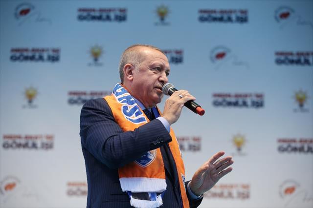 Erdoğan: Terör koridoru oluşturulmasına fırsat vermeyeceğiz