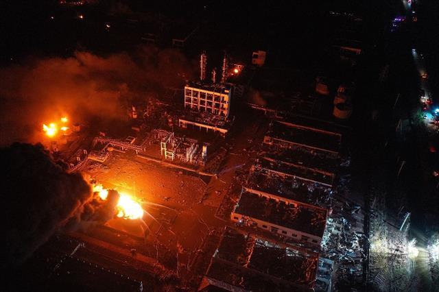 Çin'de kimya tesisi patlamasında ölü sayısı 47'ye yükseldi