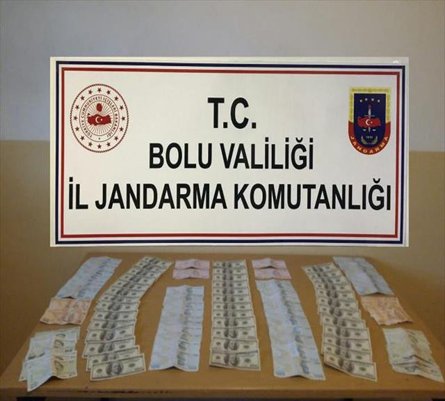 Bolu'da piyasaya sahte para süren 3 kişi gözaltına alındı
