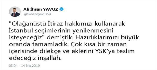 AK Parti'den 'olağanüstü' itiraz açıklaması