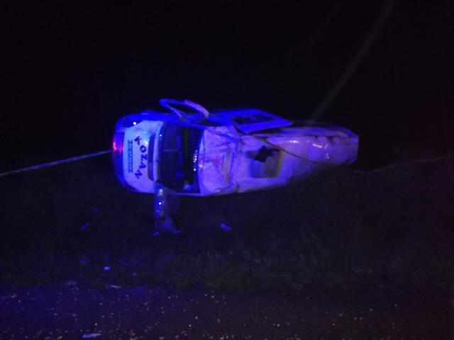 Yolcu minibüsü şarampole devrildi, 1 kişi hayatını kaybetti
