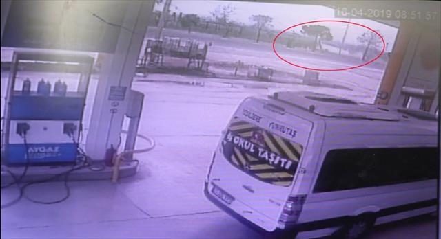 34 kişinin yaralandığı kaza güvenlik kamerasında