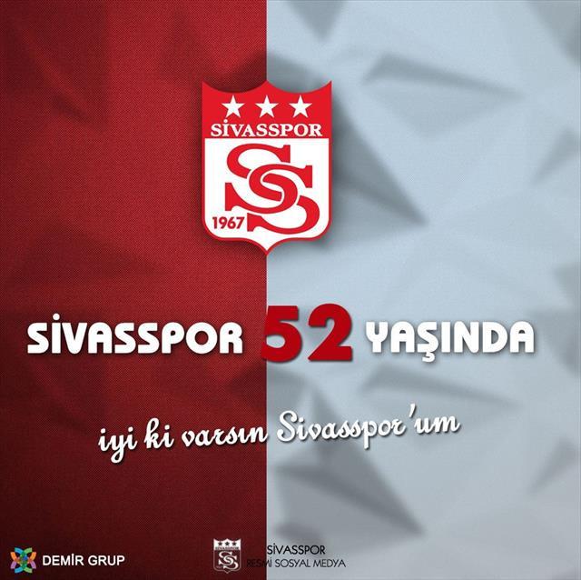 Sivasspor 52 yaşında