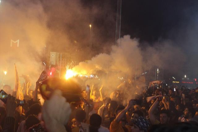 Taksim'de şampiyonluk coşkusu