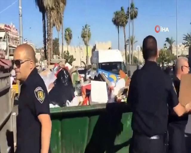 İsrail polisi, gıda yardımlarına el koydu