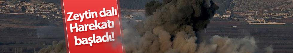 TSK: Zeytin dalı Harekatı başladı!