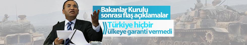 Bozdağ'dan Afrin açıklaması: Türkiye hiçbir ülkeye garanti vermedi