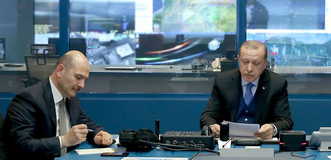 Erdoğan video konferans ile bilgi aldı