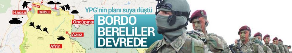 Afrin'de PYD'nin hain planına bordo bereli önlem