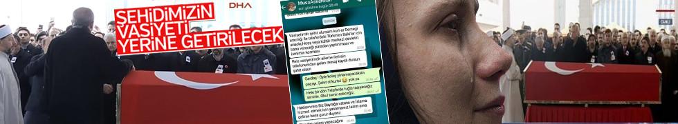 Erdoğan'dan Afrin şehidinin cenazesinde kritik mesaj