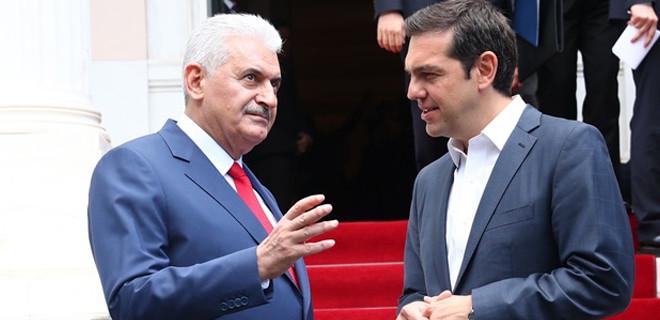 Başbakan Yıldırım, Yunan mevkidaşıyla görüştü