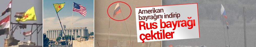 Teröristler Rus bayrakları altında böyle nöbet tutuyor...