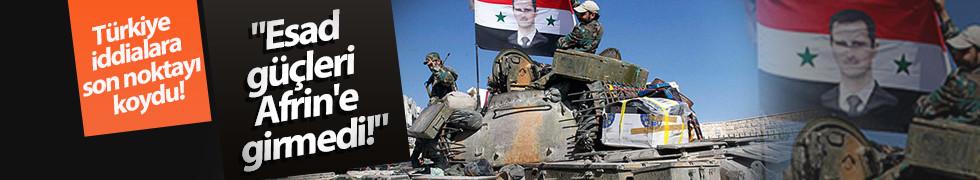 Esad güçlerinin Afrin'e girdiği iddiaları gerçek dışı!