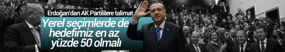 Cumhurbaşkanı Erdoğan: Yerel seçimlerde de hedefimiz en az yüzde 50 olmalı