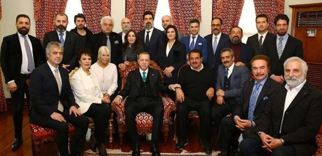 Ünlülerden Erdoğan'a doğum günü ziyareti