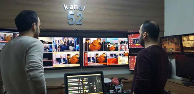 TV52 kanalı binası mühürlendi
