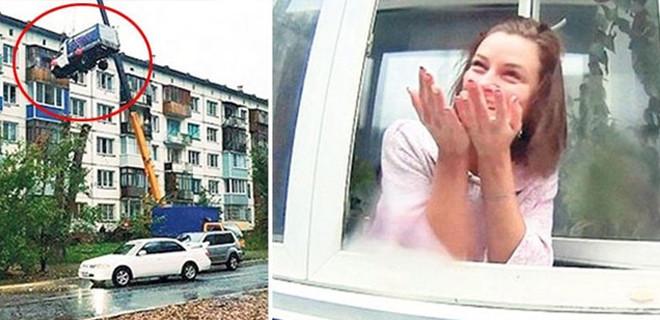 Rusya'da bir kişi sevgilisine yaptığı sürprizle sosyal medyayı salladı