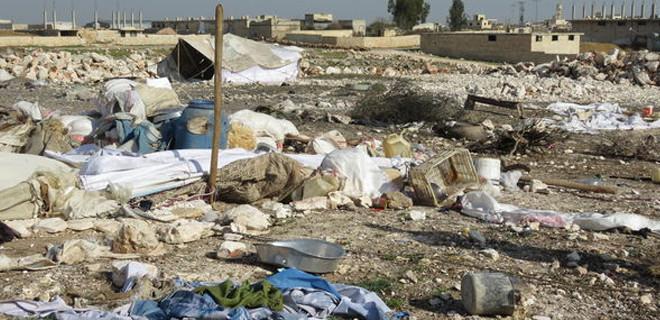 İdlib'de mülteci kampına hava saldırısı