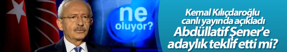 Abdüllatif Şener İstanbul Büyükşehir Belediye Başkan Adayı mı olacak?