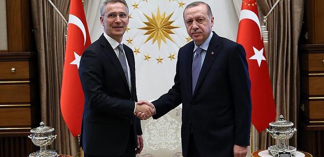 Cumhurbaşkanı Erdoğan, Stoltenberg'i kabul etti
